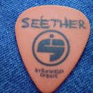 SEETHER GUITAR PICK Finding Beauty in Negative Spaces orange