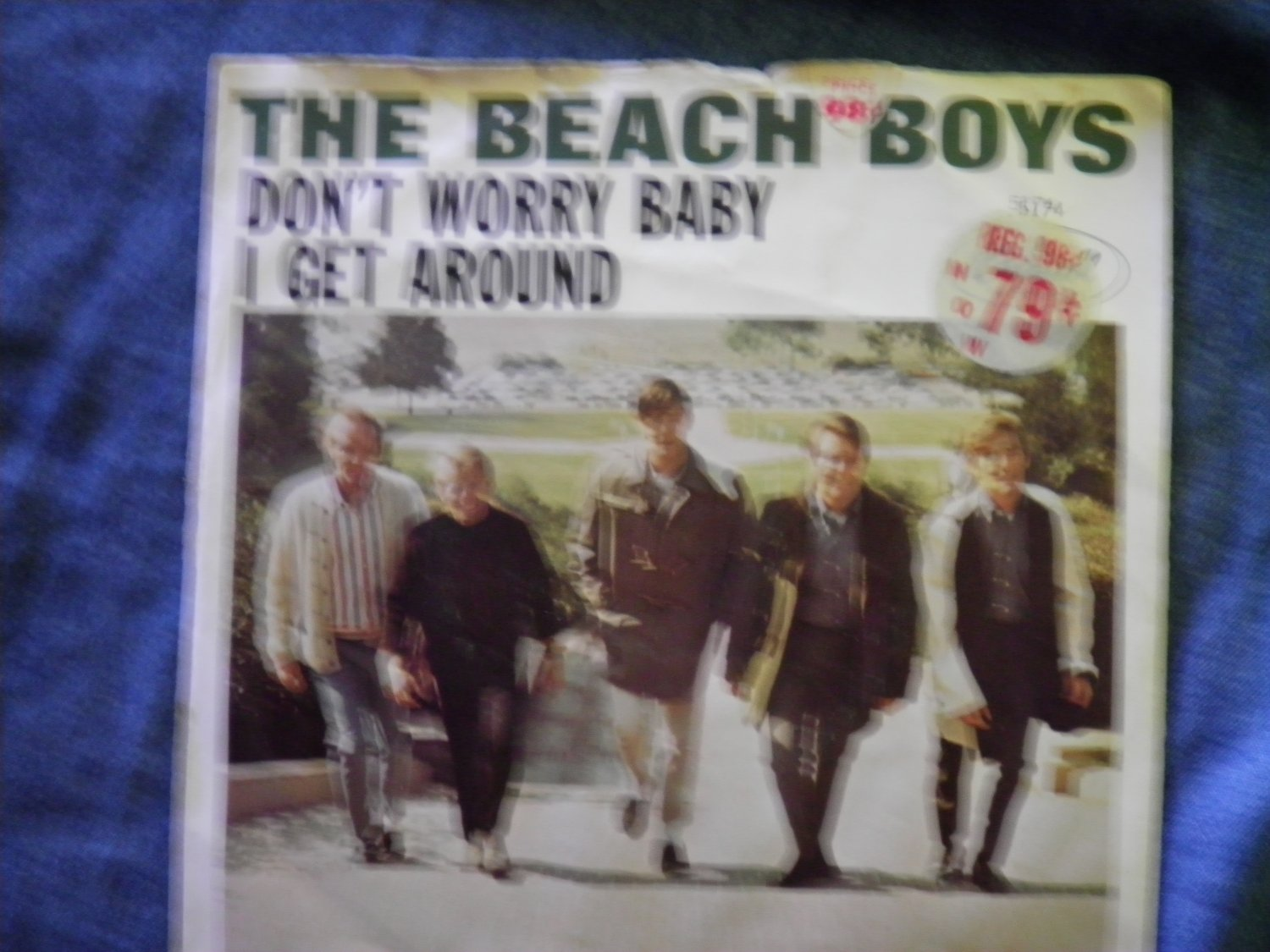 45 THE BEACH BOYS don't worry baby b/w I get around vinyl record W/PICTURE SLEEVE