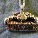 SCORPIONS METAL NECKLACE scorp with logo VINTAGE