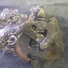 SAXON METAL NECKLACE axe logo import VINTAGE