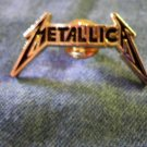 METALLICA TACK PIN gold logo button VINTAGE