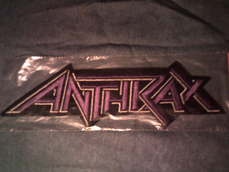 ANTHRAX iron-on PATCH purple logo VINTAGE