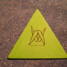 SYSTEM OF A DOWN GUITAR PICK Fuck The System soad triangle green