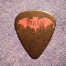 MEAT LOAF GUITAR PICK bat logo meatloaf black