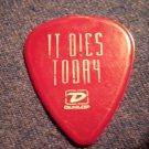 IT DIES TODAY GUITAR PICK Ozzfest 2005 purple