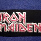 IRON MAIDEN iron-on PATCH classic logo rectangle VINTAGE
