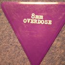8MM OVERDOSE GUITAR PICK triangle purple