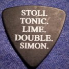 STRAPPING YOUNG LAD GUITAR PICK stoli tonic lime double simon black