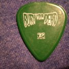 BURY YOUR DEAD GUITAR PICK Ozzfest 2005 green