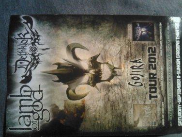 CONCERT FLYER Lamb of God Dethklok Gojira Suicide Silence Unearth texas SALE