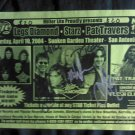 CONCERT FLYER Legs Diamond Starz Pat Travers texas AUTOGRAPHED