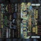 CONCERT FLYER 2008 south texas rock fest strf AXE AUTOGRAPHED
