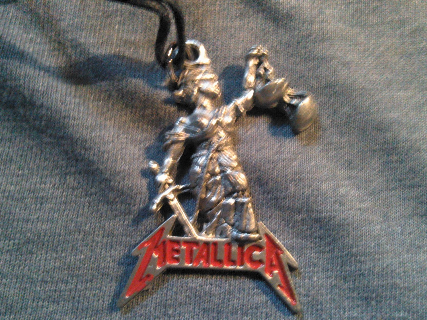 METALLICA METAL NECKLACE And Justice For All VINTAGE 80s