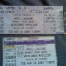 AVRIL LAVIGNE TICKET LOT Bonez Tour 2005 unused & stub
