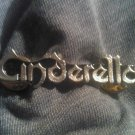 CINDERELLA METAL PIN classic logo badge VINTAGE