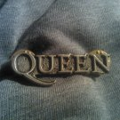 QUEEN METAL PIN classic logo badge freddie mercury VINTAGE