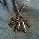 THE BLACK CROWES METAL NECKLACE crows leaf logo VINTAGE
