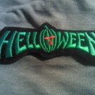 HELLOWEEN iron-on PATCH classic logo green VINTAGE