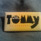 THE WHO PINBACK BUTTON Tommy the musical on broadway yellow