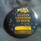 KLBJ PINBACK BUTTON austin texas legends of rock 10 yr ann radio VINTAGE