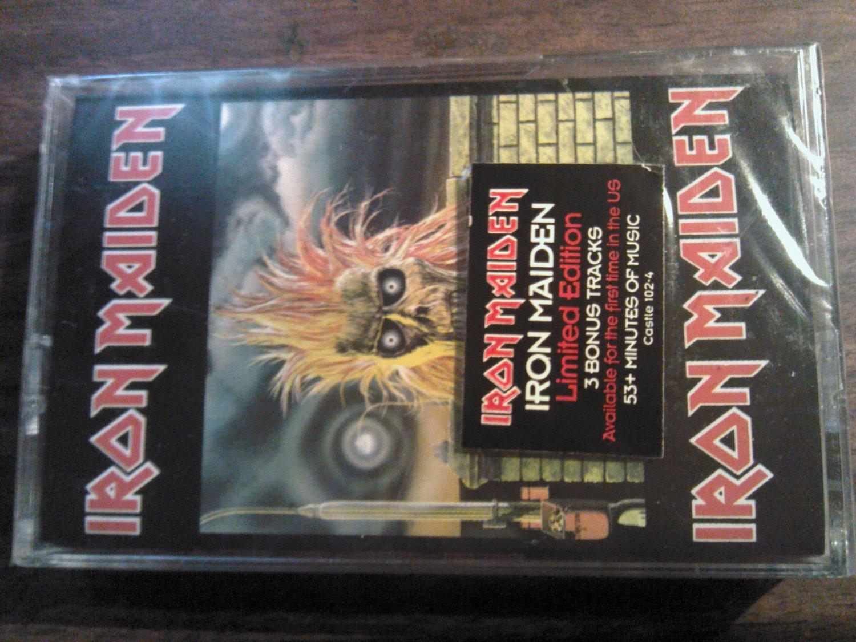 IRON MAIDEN cassette tape self titled bonus tracks SEALED