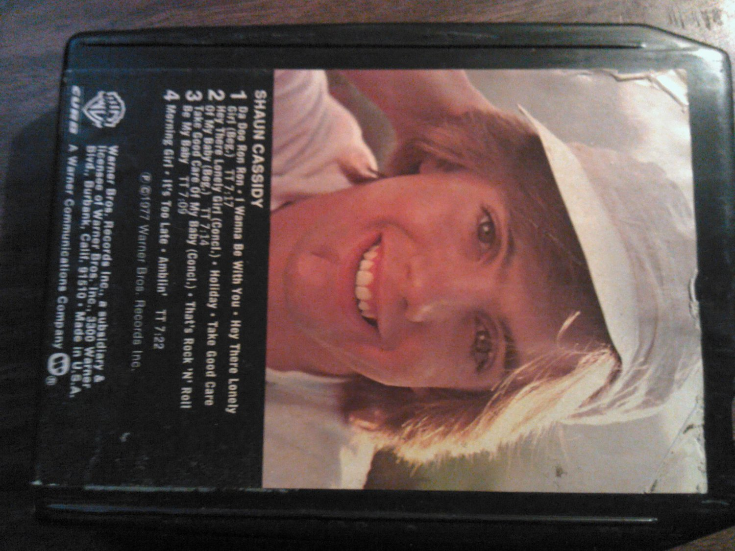 SHAUN CASSIDY 8-TRACK TAPE self titled do ron VINTAGE