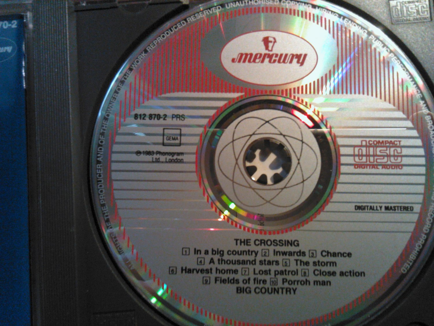 CD BIG COUNTRY The Crossing vintage import WEST GERMANY SALE