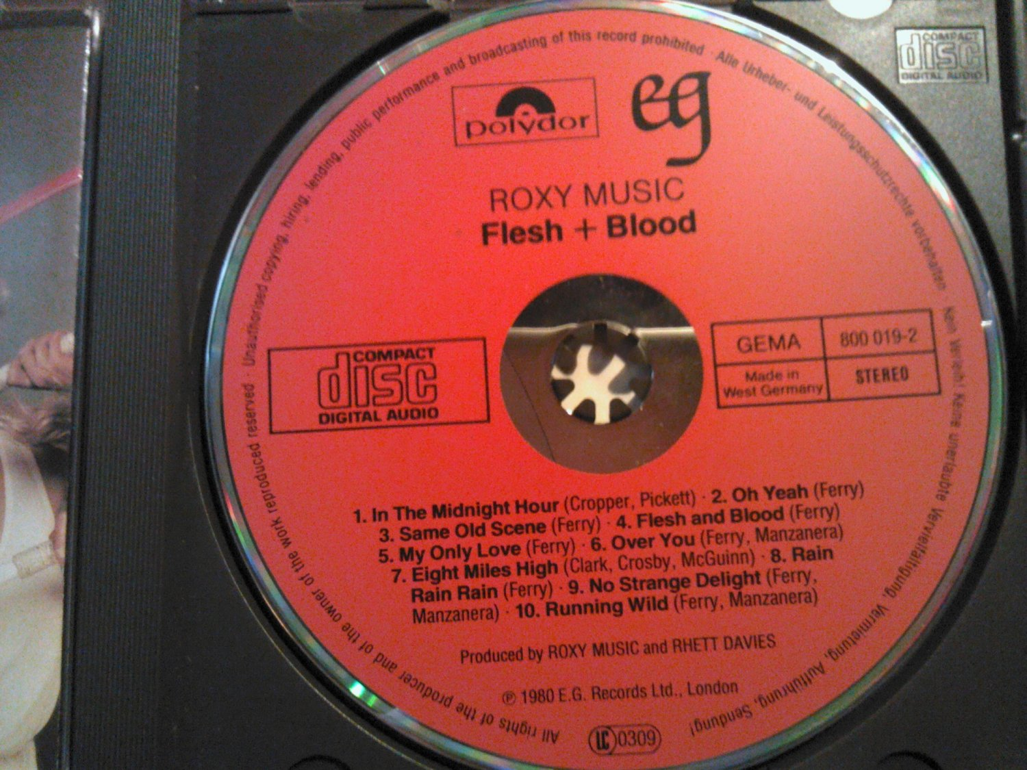 CD ROXY MUSIC Flesh And Blood brian ferry paul carrack vintage import WEST GERMANY