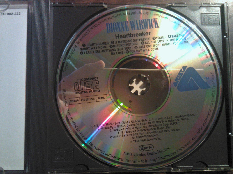 CD DIONNE WARWICK Heartbreaker barry gibb beegees vintage import WEST GERMANY