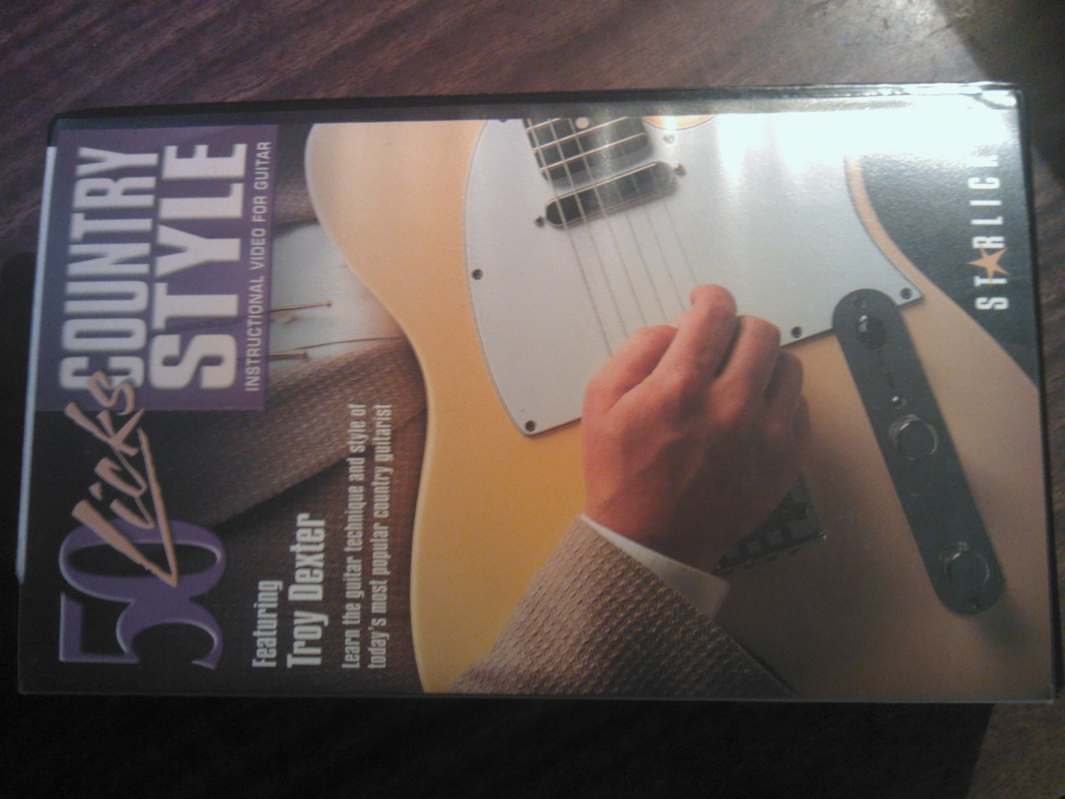 VHS COUNTRY STYLE 50 Licks troy dexter booklet starlicks guitar instructional