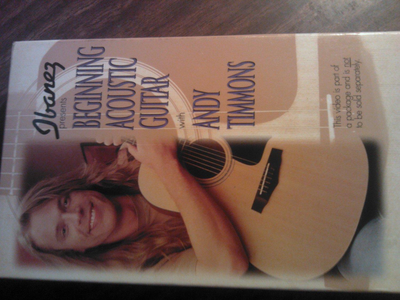 VHS ANDY TIMMONS Beginning Acoustic Guitar ibanez danger danger instructional