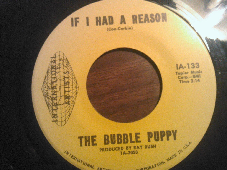 45 THE BUBBLE PUPPY If I Had a Reason b/w beginning international vintage vinyl record