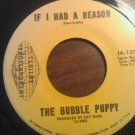 45 THE BUBBLE PUPPY If I Had a Reason b/w beginning international vintage vinyl record