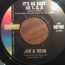 45 JAN & DEAN It's As Easy As 1 2 3 b/w You Really Know How To Hurt A Guy vintage vinyl record
