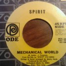 45 SPIRIT Mechanical World b/w Uncle Jack ode vintage vinyl record SALE