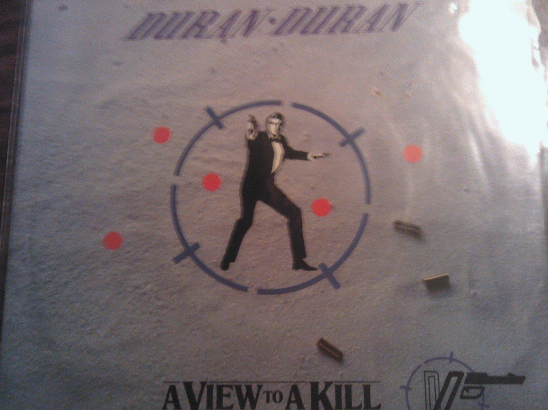 45 DURAN DURAN View To A Kill john barry james bond 007 vinyl record W/PICTURE SLEEVE