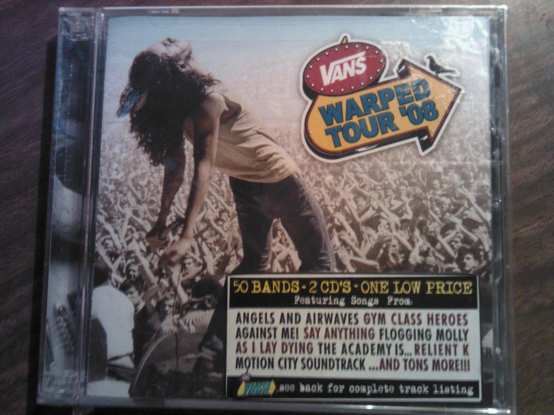 CD WARPED TOUR 2008 devil wears prada cobra starship the lordz angels and airwaves 2disc SEALED