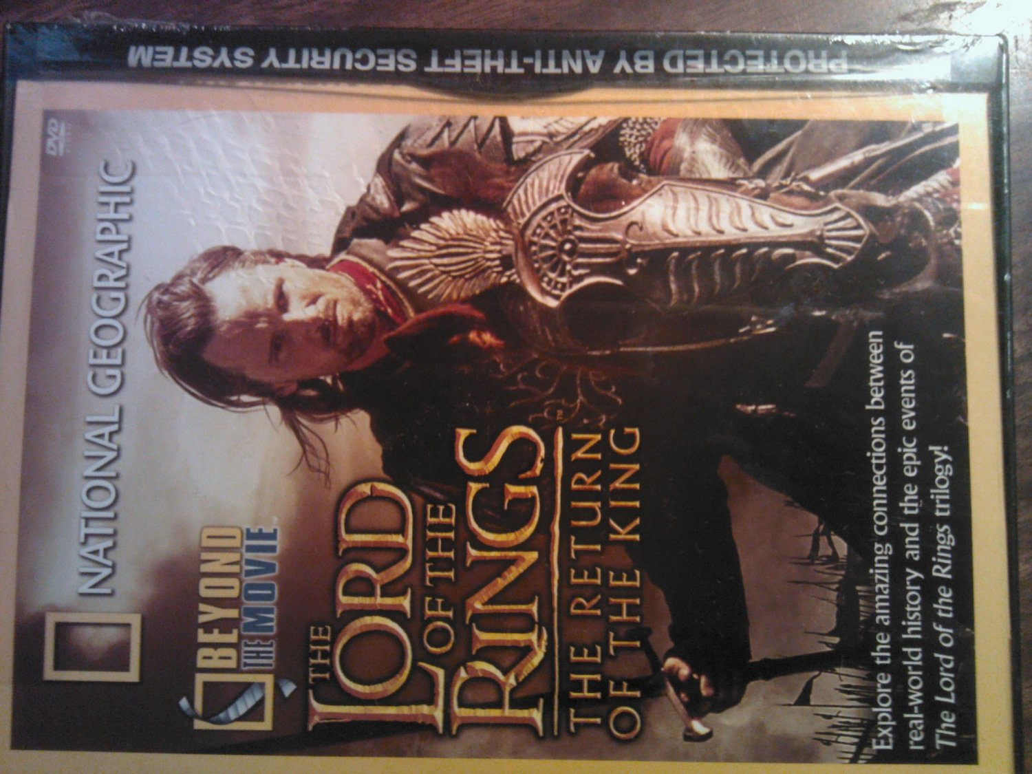 DVD NATIONAL GEOGRAPHIC Lord of the Rings Return King lotr doc SEALED