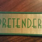 PRETENDERS sew-on PATCH green logo chrissie hynde VINTAGE