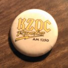 KZDC PINBACK BUTTON Rocks heavy metal radio san antonio texas VINTAGE