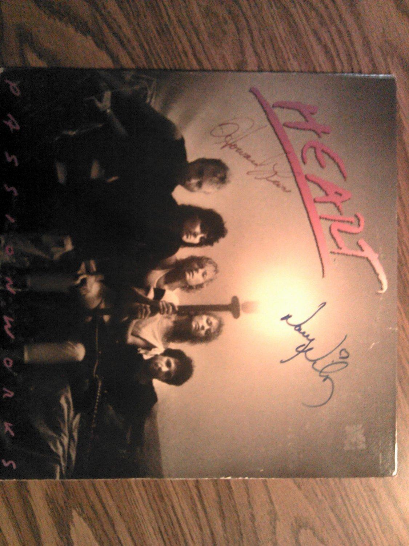 LP HEART Passionworks nancy wilson howard leese vinyl record AUTOGRAPHED