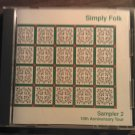 CD SIMPLY FOLK Sampler robbie clement rattletrap lost nation string band wisconsin public radio SALE