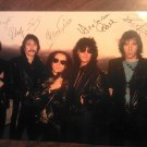SCORPIONS FLYER group pic w/autographs postcard import VINTAGE PROMO