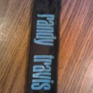 RANDY TRAVIS HEADBAND blue logo country head band VINTAGE