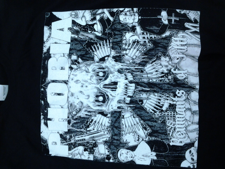 PHOBIA SHIRT Remnants Of FIlth whIte logo metal M NEW