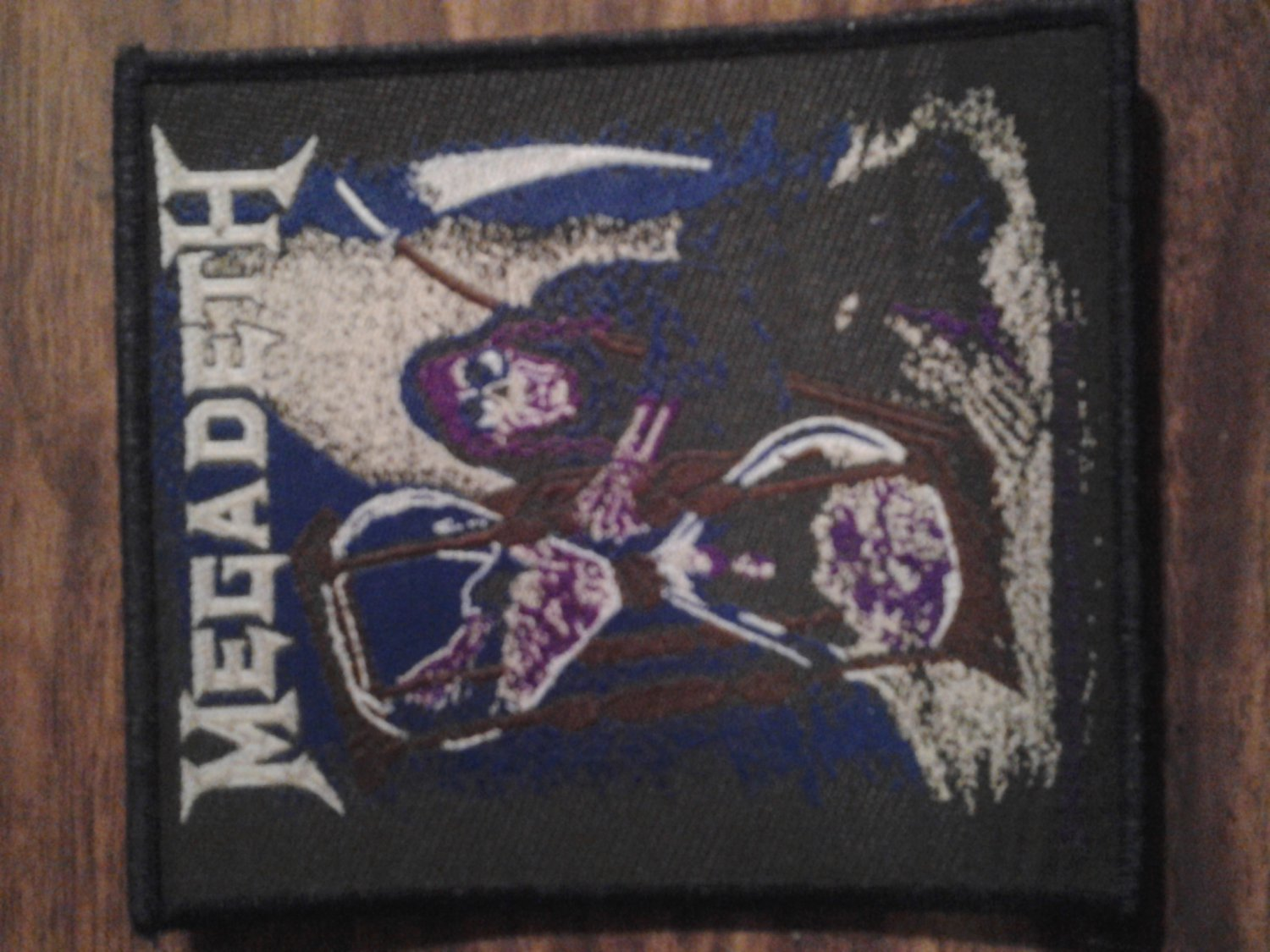 MEGADETH sew-on PATCH Countdown To ExtInctIon Import VINTAGE