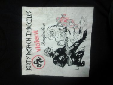 D.R.I. SHIRT VIolent PacIfIcatIon dirty rotten imbeciles drI punk 2-sided XL