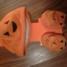 PUMPKIN COSTUME baby hat booties sodorable new never used SALE