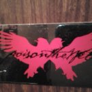 POISON THE WELL STICKER Tear From The Red reflective 2002 PROMO