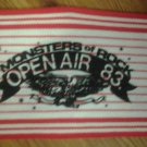 1983 FABRIC SCARF blue oyster cult twisted sister ozzy ice house meat loaf saxon motorhead cs&n